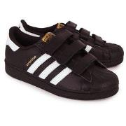 adidas Originals Superstar Foundation Velcro Trainers Black and White ...