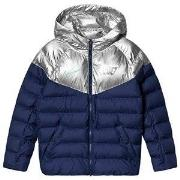 NIKE CR7 Football Puffer Jacket Blue/Silver L (12-13 years)